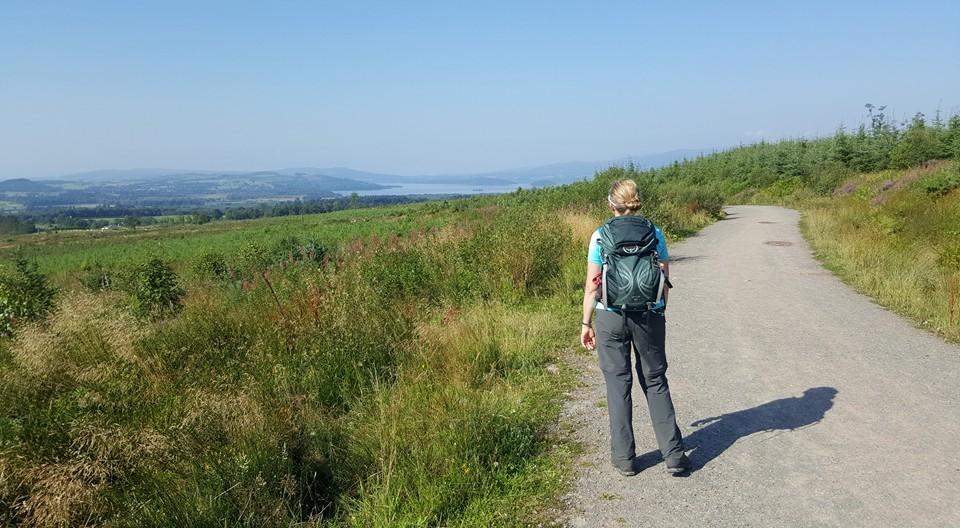 Glimpse of Loch Lomond on route to Rowardennan