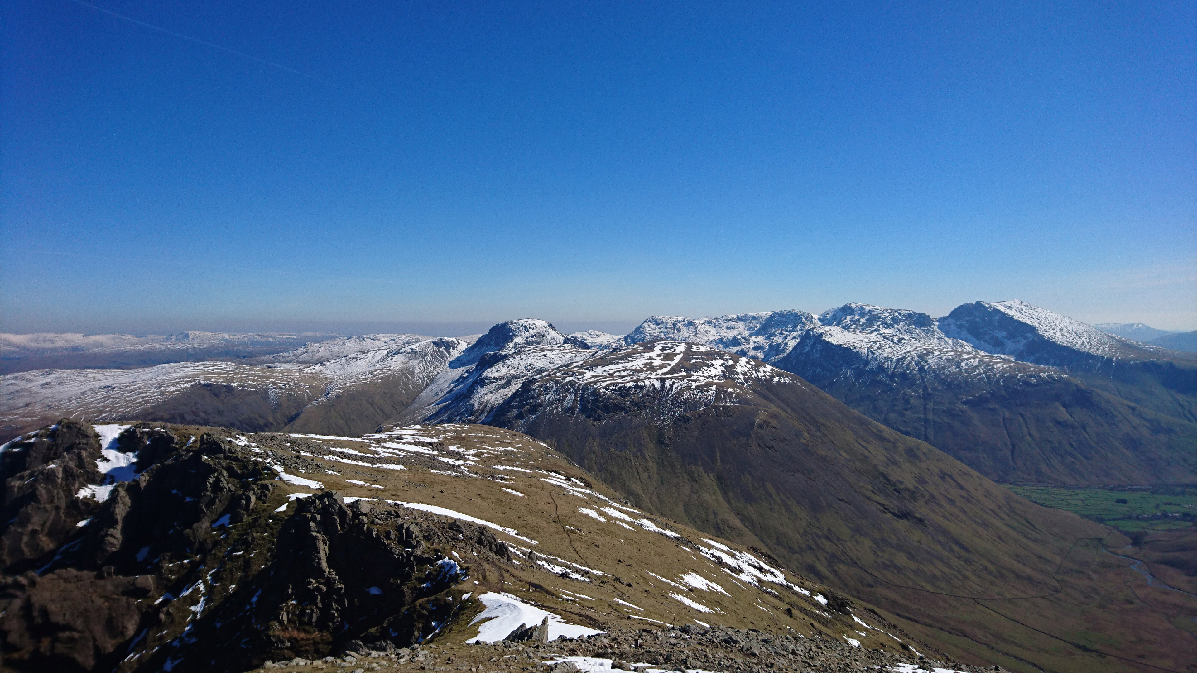 Great Gable and the Scafell range