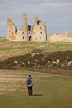 Northumberland Coast Path at Dunstanburgh Castle