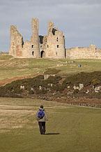 Northumberland Coast Path at Dunstanburgh Castle