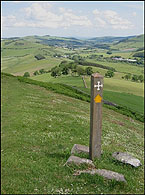 signpost on st cuthberts way
