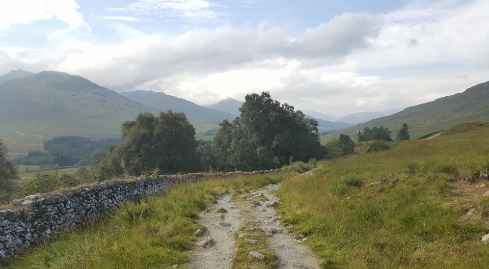 Section of old military road in to Glen Falloch