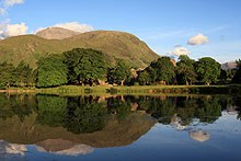 Ben Nevis form the Caledonian Canal