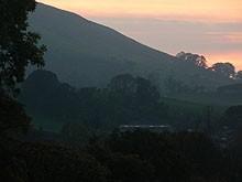 Cleveladn Way - sunset over sutton bank