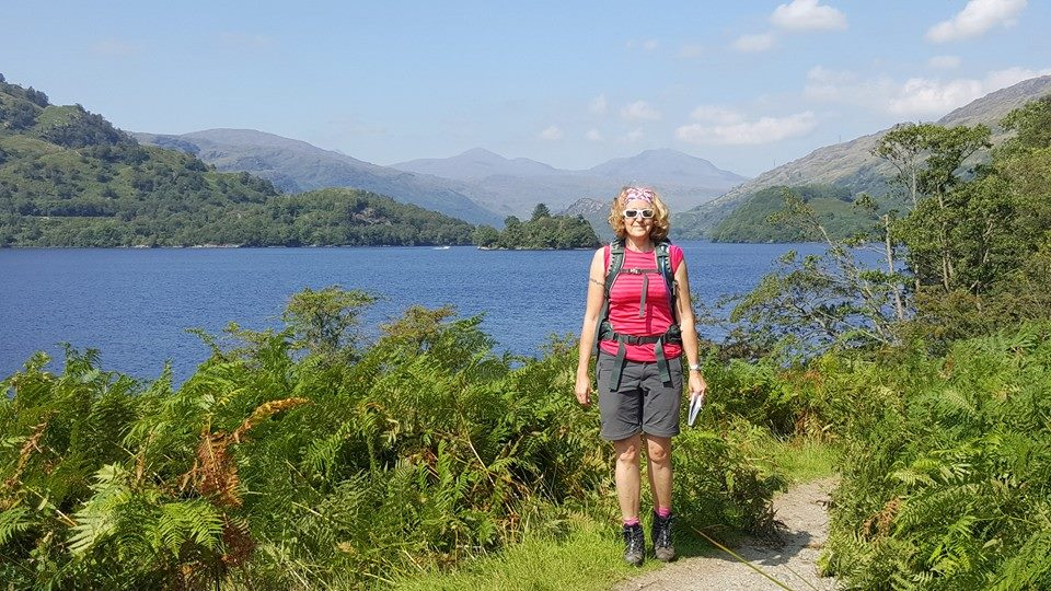 Out of the woodland with views down the loch