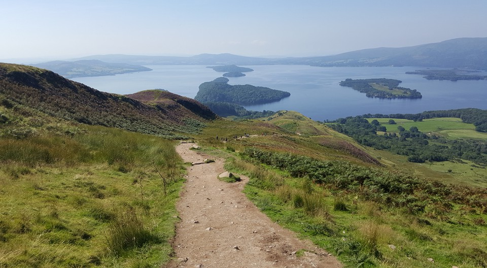 The islands marking the geographical fault in Loch Lomond