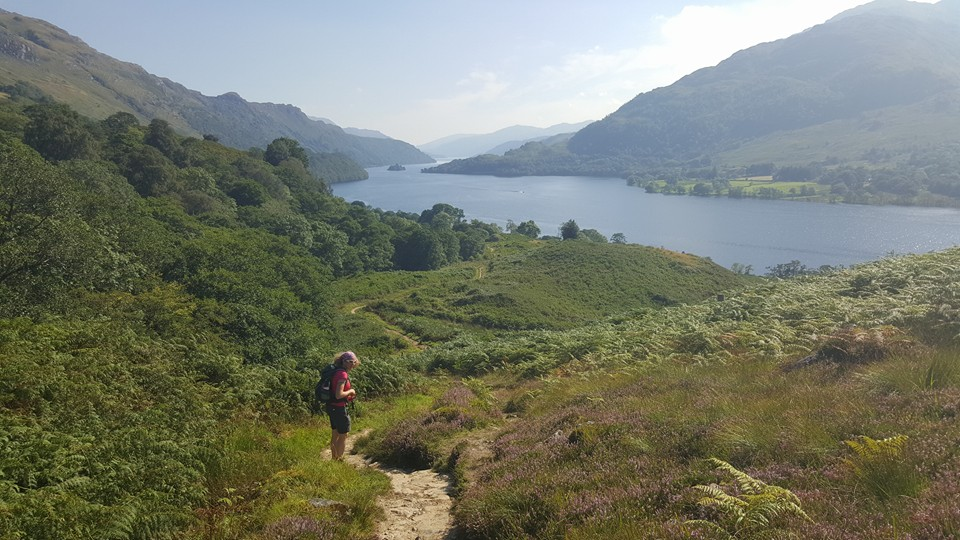 The last bit of uphill before the walk in to Inverarnan