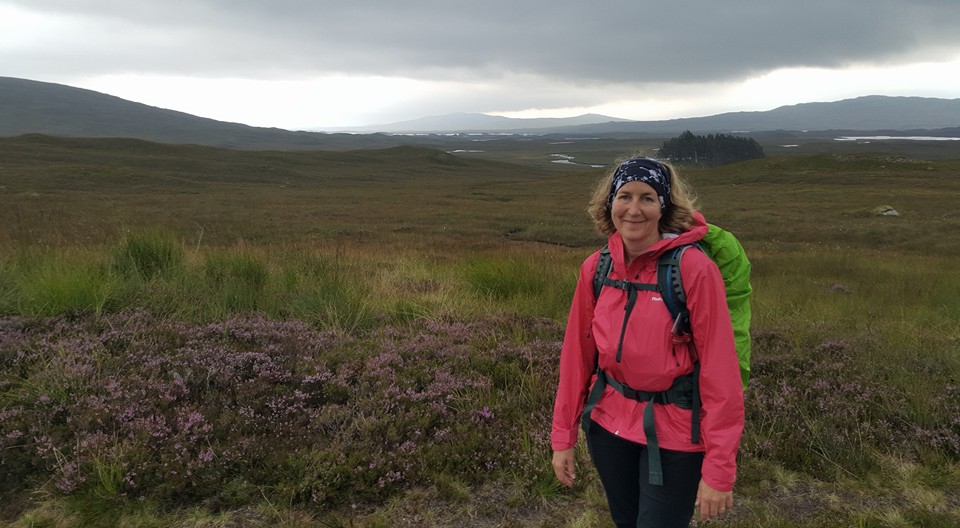 Waterproofs finally out of the rucksack, still on the moor
