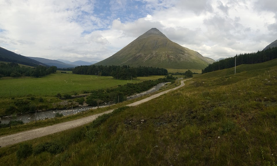 Iconic Beinn Dorain seen from the military road into Bridge of Orchy