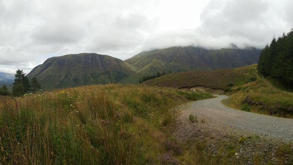 Ben Nevis in the cloud and Meall an t-Suidhe