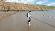 Cooling off at Filey