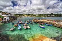 Boats in Coverack Harbour