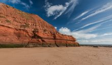 Exmouth Cliffs on the South Devon Coast Path