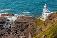 Hartland Point Lighthouse on the South West Coast Path