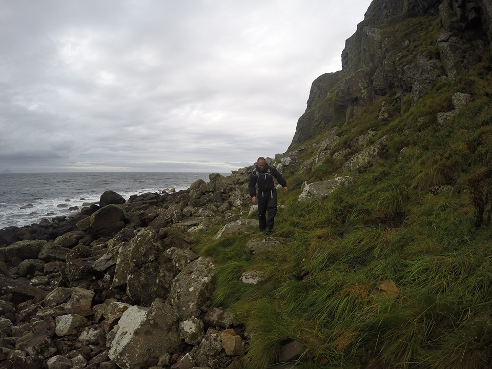 Jon on the Arran Coastal Path