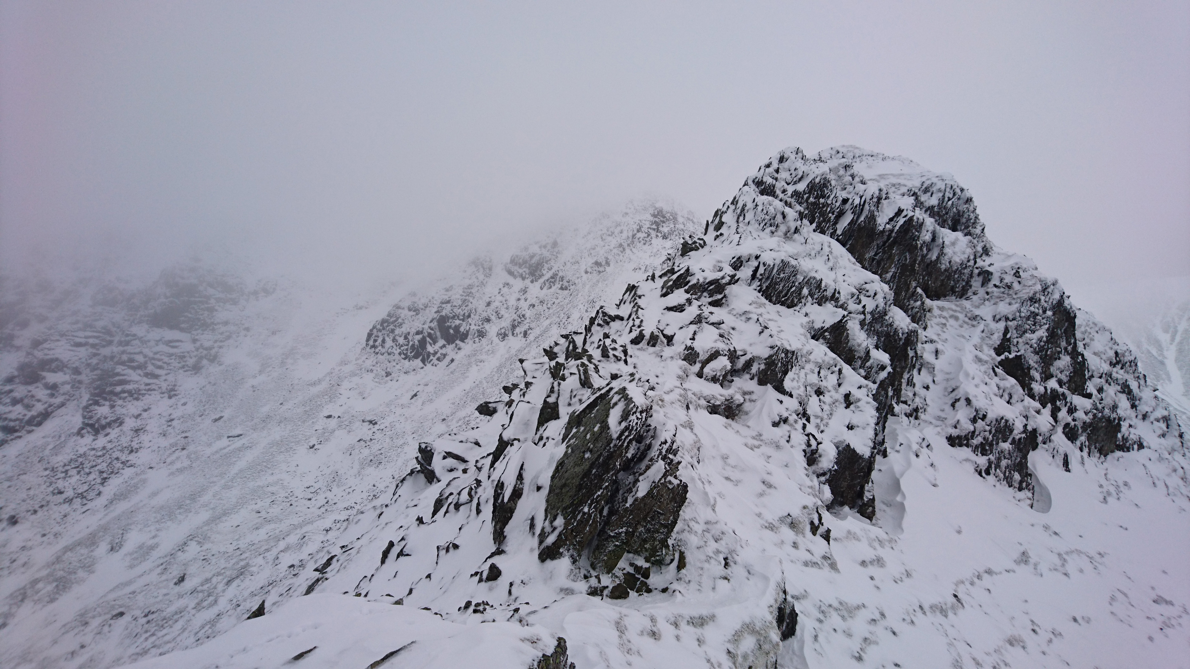 Looking back up Swirral Edge