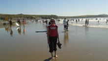 Lynne on the Beach, Pembrokeshire