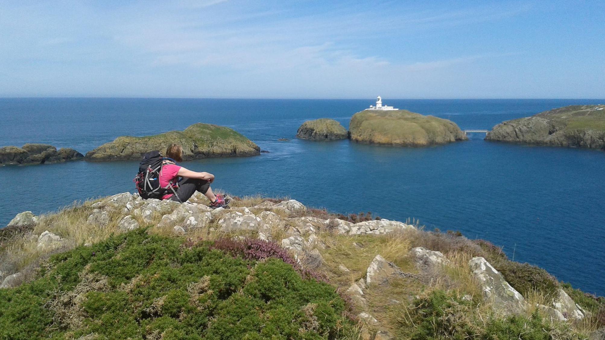 Lynne on the Pembrokeshire Coast