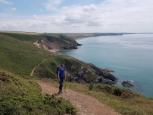 Monika on the Pembrokeshire Coast Path