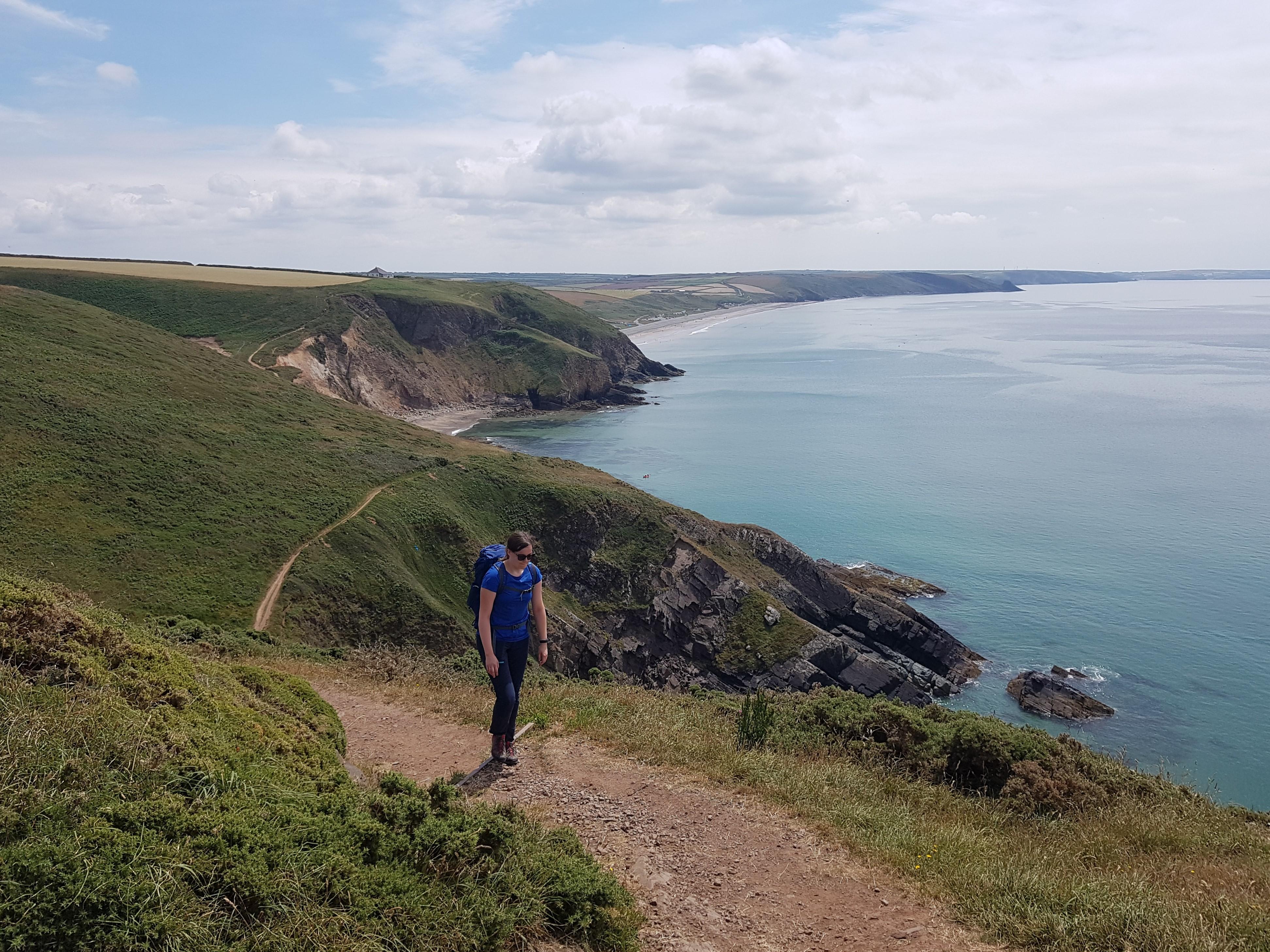 Monika on the Pembrokeshire Coast Path