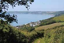 South West Coastal Path looking toward Looe