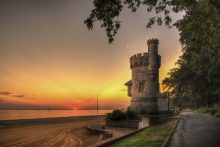 Sunrise at Appley Tower
