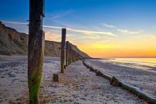 Sheringham Beach on the North Northfolk Coast Path