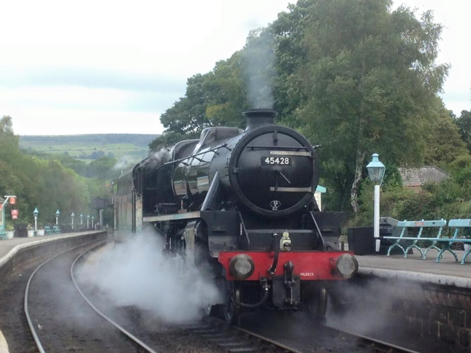 Steam train in Grosmont