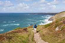 Walking on the Cornwall Coast Path