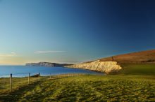 View from Compton Chine to Freshwater Bay