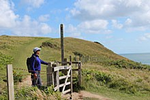 Pembrokeshire Coast Path near Broad Haven