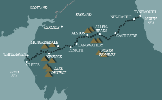Sea to Sea Cycle Route Map