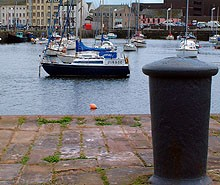 WHitehaven harbour at the start of the sea to sea